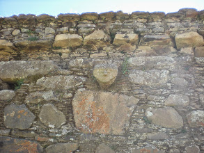 Photo: One of the cabezas clavas of the Willkawain burial complex in our village