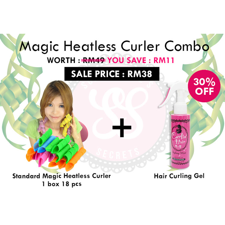 Magic Heatless Curlers Combo by Supermodels Secrets