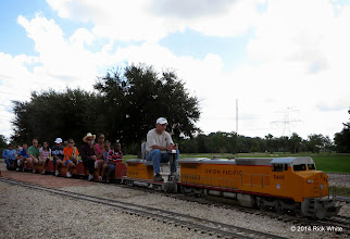 Photo: Engineer Mike Alexander and Conductor Pete Greene      HALS Public Run Day 2014-0920 RPW