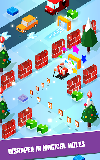 Crossing Santa - Addictive Christmas Skiing game - screenshot