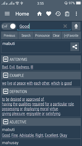 English Filipino Dictionary  screenshots 1