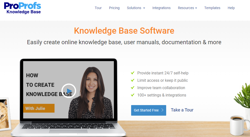 ProProfs Knowledge Base is a self-service tool