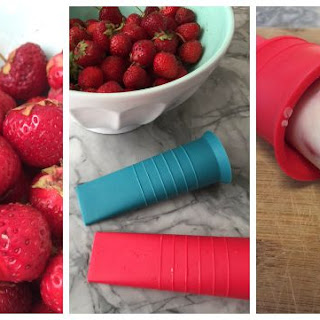 Frozen Strawberry Vanilla Yogurt Pops Recipe