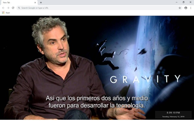 Alfonso Cuarón New Tab Theme