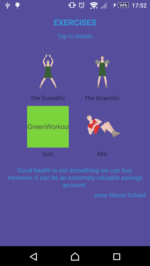 Green Workout- screenshot