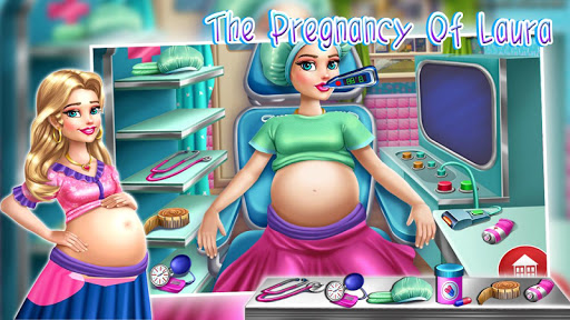 The pregnancy of Laura