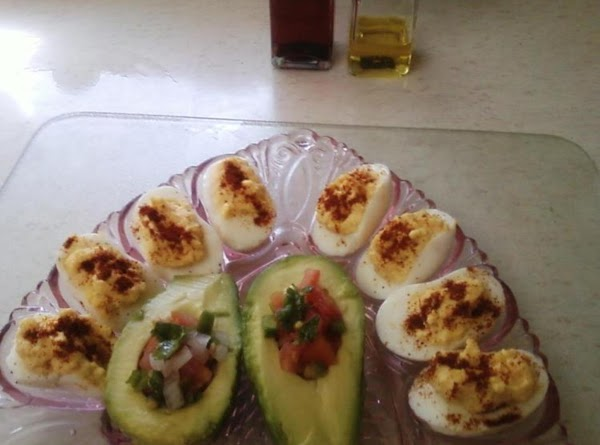 Curried Deviled Eggs& Stuffed Avacado's Recipe