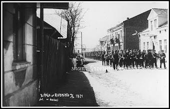 """Photo: Przemarsz """"Strzelca"""" na dzisiejszej ulicy Mickiewicza - 3 maja 1931"""