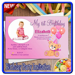 Birthday party invitation card apps on google play screenshot image stopboris Gallery
