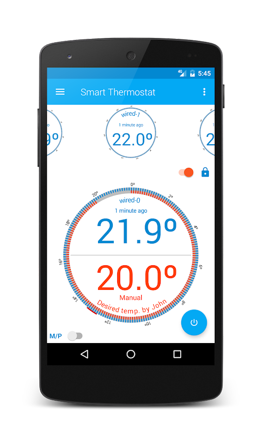 Smart Thermostat for Arduino Yun- screenshot