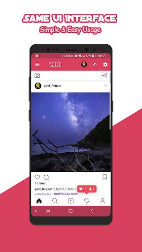 Download Mini for Instagram - Zoom Profile HD Downloader Apk Latest