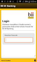Screenshot of BII Mobile Banking