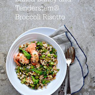 Baked Barley Risotto with Tenderstem® Broccoli