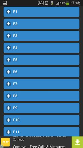 F1 থেকে F12 বাটন এর ব্যবহার
