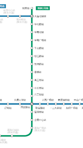 大连地铁路线图