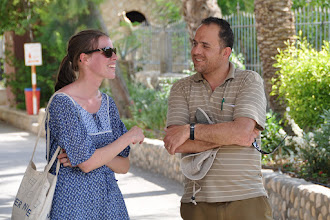 Photo: Our two guides (Dutch and Palestinian)
