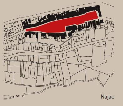 План средневековой бастиды Нажака