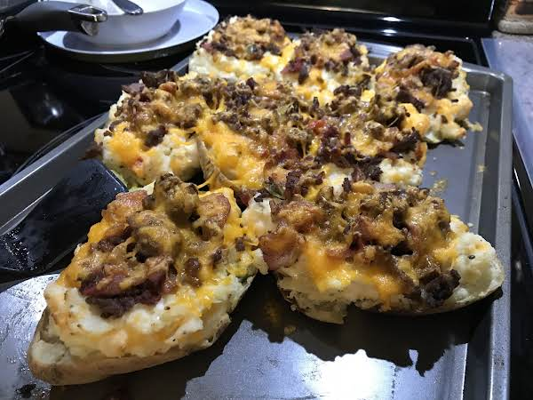 Twice Baked Bacon Cheeseburger Potatoes Recipe