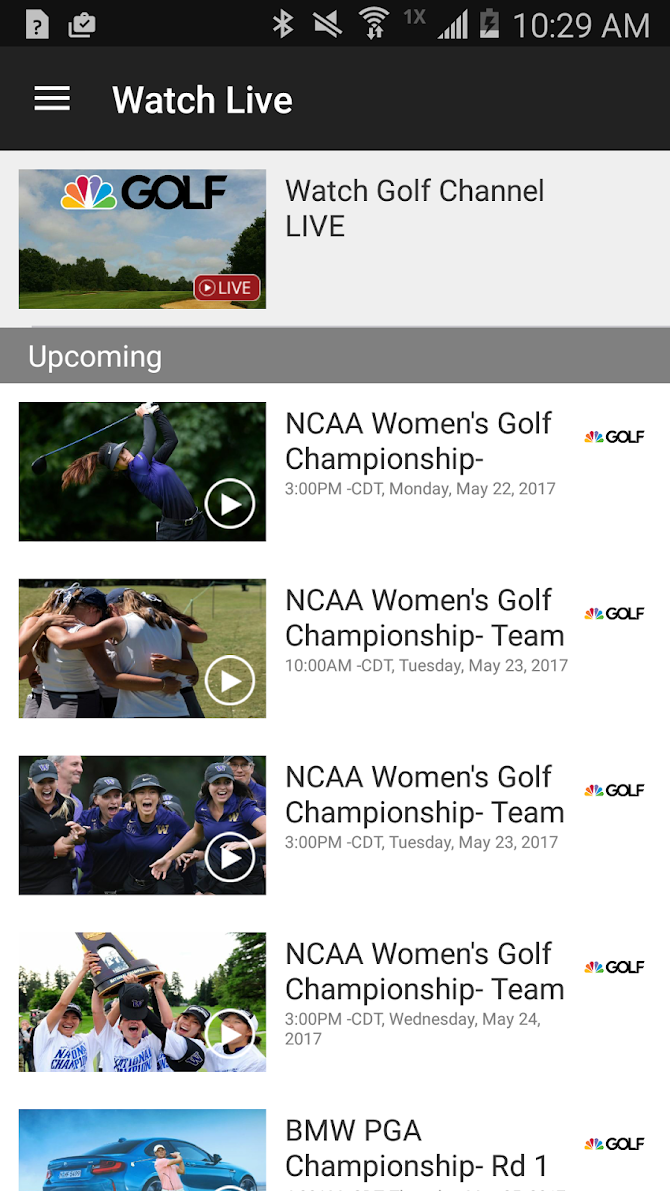 Golf Channel Mobile Android 6