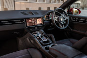 Dark-themed cabin has black Alcantara and leather seats. Picture: SUPPLIED