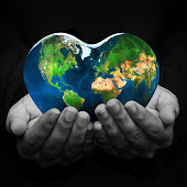 Love and Heart Shaped World in the Palm of Your Hands