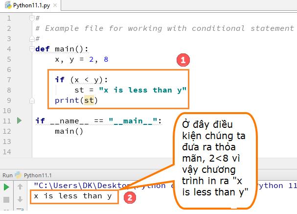 Chi tiết bài học 11 Python if, else