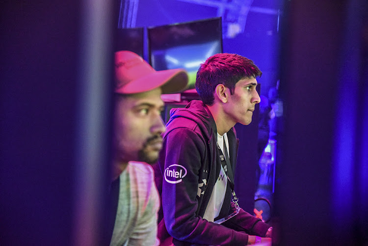 FIFA esport competitors battle it out in a quarter final late on Sunday evening at the VS Gaming FIFA qualifier this weekend at Monte Casino, Johannesburg.