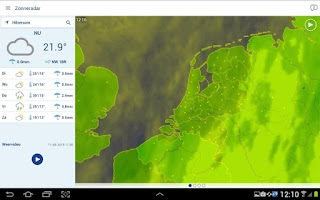 Screenshot of Buienradar