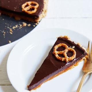 Chocolate-Caramel Pretzel Tart