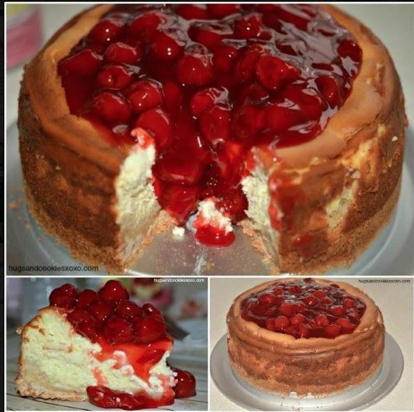 Sugar Cookie Cherry Cheesecake Recipe