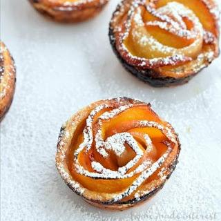 Peach Rose Tarts