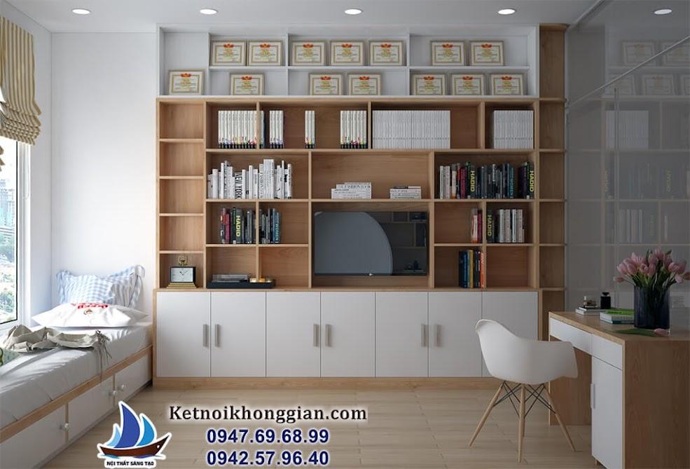 thiết kế phòng đọc sách gia đình đẳng cấp