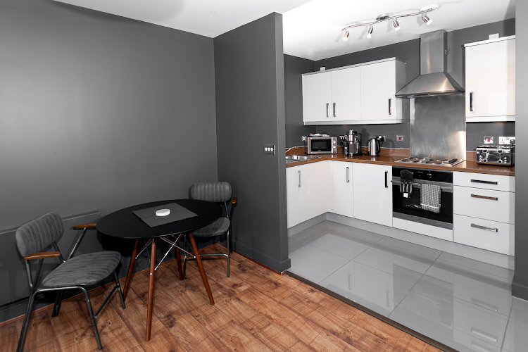 Kitchen at HUB Apartments