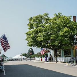 Mackinac Island MI by Wendy Alley - City,  Street & Park  Street Scenes