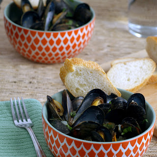 Thai Green Curry Mussels.