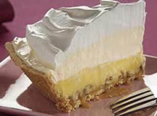 Layered Eggnog Pie-no Bake Recipe