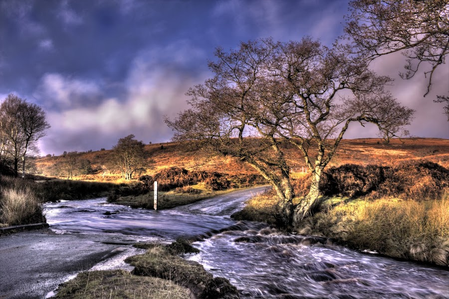 Ford on the Moor by Keith Britton - Landscapes Prairies, Meadows & Fields