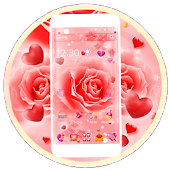 Pink Rose Flower Launcher Theme
