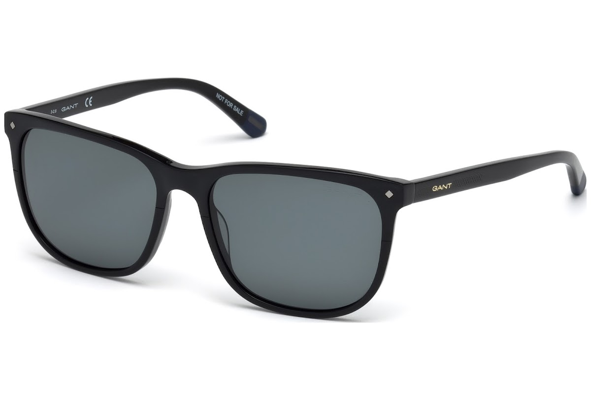 fd879b21fad Polarized Sunglasses Gant GA7093 C57 01D (shiny black   smoke polarized)
