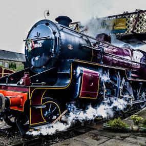 Steam Engine by Jim Keating - Transportation Trains ( ramsbottom, railway, engine, east lancs railway, steam,  )