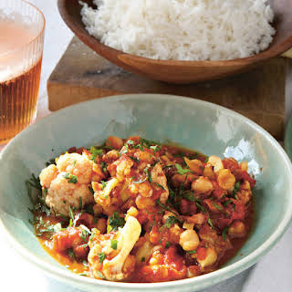 Cauliflower and Chickpea Curry.