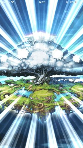 ガチャの確定演出 銀色の木の画像