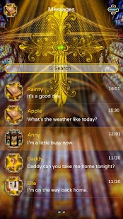 GO SMS PRO LIGHT OF HOPE THEME- screenshot thumbnail
