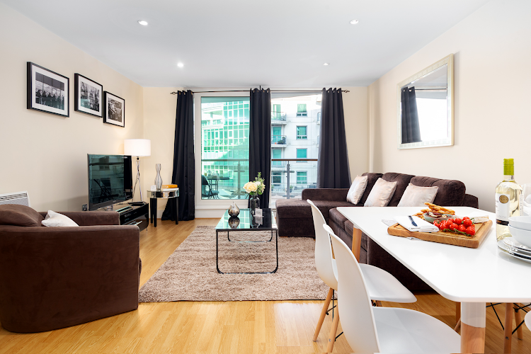 living space at St. George Wharf Apartments, Vauxhall