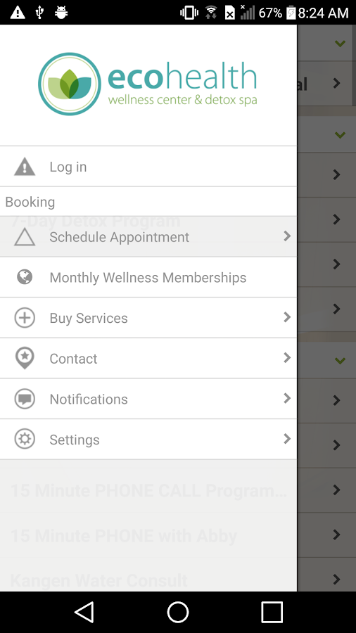 EcoHealth Wellness Center- screenshot