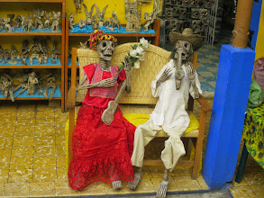 Photo: Some revelers left from the Day of the Dead.