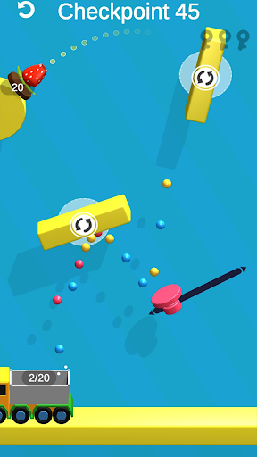 Shot Power 3D: Go Go Color buckets! screenshot 2