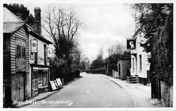 Photo: The Queens Head Tonbridge Road Wateringbury with Mr Bolts paper shop opposite