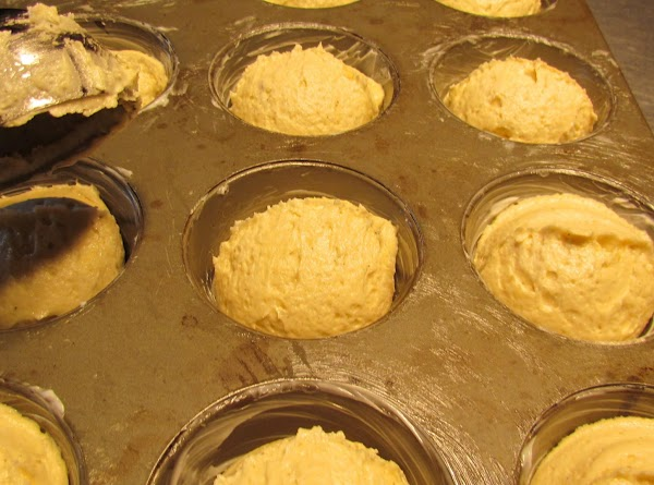 Fill the muffin cups using a standard size ice cream scoop (almost to the...