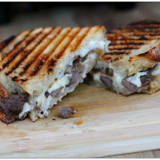 Three Cheese Steak and Mushroom Panini